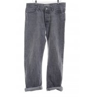 Acne Straight-Leg Jeans hellgrau Casual-Look