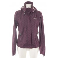 Bench Outdoorjacke lila-wollweiß abstraktes Muster Casual-Look
