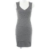 Comma Etuikleid schwarz-weiß abstraktes Muster Elegant