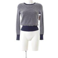 Comptoir des Cotonniers Cashmerepullover blau-weiß Streifenmuster Casual-Look