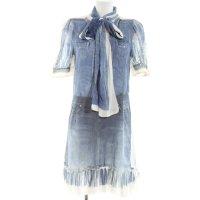 Dolce & Gabbana Chiffonkleid blau Casual-Look