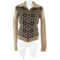 Dolce & Gabbana Strickjacke braun-schwarz Aztekenmuster Casual-Look
