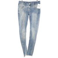 Glücksstern Slim Jeans stahlblau Casual-Look
