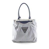 Guess Handtasche weiß-dunkelblau Streifenmuster Casual-Look