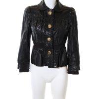 Juicy Couture Lederjacke schwarz extravaganter Stil