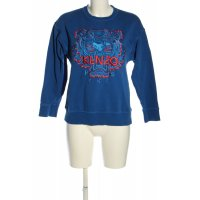 Kenzo Sweatshirt blau-rot Schriftzug gedruckt Casual-Look