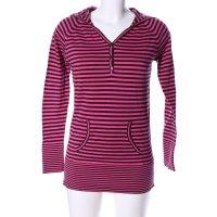Knitwear Longsleeve pink-schwarz Streifenmuster Casual-Look