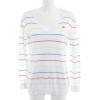 Lacoste V-Ausschnitt-Pullover Streifenmuster