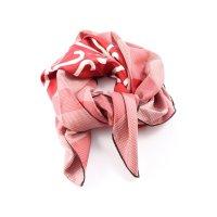 Loewe Seidentuch rot-weiß Allover-Druck Casual-Look