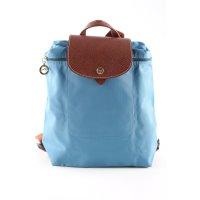 Longchamp Stofftasche blau-braun Elegant