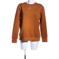 Nike Sweatshirt hellorange Schriftzug gedruckt Casual-Look