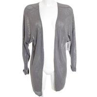 Opus Strickjacke grau schlichter Stil
