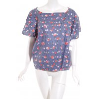 Oversized Bluse Allover-Druck Casual-Look