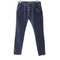 Please Skinny Jeans blau-dunkelblau Street-Fashion-Look