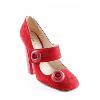 Prada Mary Jane Pumps rot Casual-Look