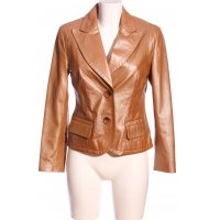 Prestige Leder-Blazer braun Casual-Look