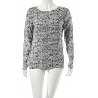 Second Female Langarm-Bluse weiß-schwarz Allover-Druck Street-Fashion-Look