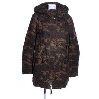 True Religion Winterjacke braun-wollweiß Camouflagemuster Casual-Look