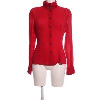 Versace Langarm-Bluse rot Casual-Look