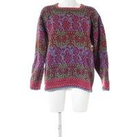 Wollpullover abstraktes Muster extravaganter Stil
