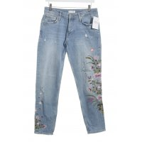 Zara Straight-Leg Jeans florales Muster Casual-Look