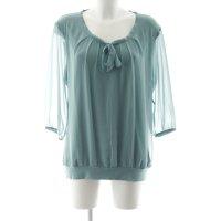 Zero Schlupf-Bluse blassblau klassischer Stil