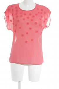 Atmosphere Kurzarm-Bluse rot Blumenmuster Casual-Look