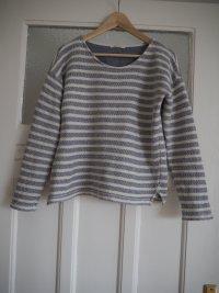 Baumwollpullover gestreift von ESPRIT // Größe S