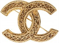 Chanel Brosche mit Box Farbe Gold Anstecknadel, Pin