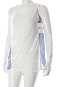 COS Trägertop kornblumenblau-weiß minimalistischer Stil