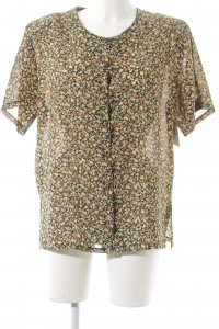 Donna Kurzarm-Bluse florales Muster
