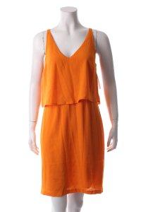 Edited Trägerkleid orange Lagen-Look