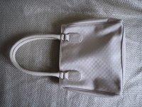 Edle Sisley Monogram Tasche, creme/ beige