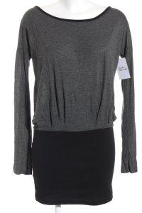 Even & Odd Sweatkleid schwarz-grau Casual-Look