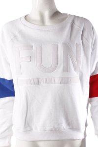 Fun Rundhals-Pullover weiß