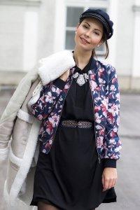 GANT Blouson Jacke Bomberjacke Gr. 36 top schöner Blumenprint Bloggerstyle