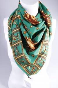 Gianni Versace Halstuch Medusa Grün