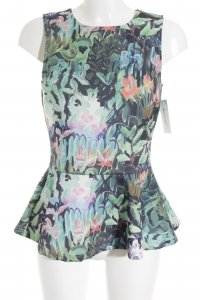 H&M ärmellose Bluse Blumenmuster Elegant