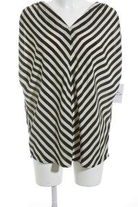 H&M ärmellose Bluse creme-schwarz Streifenmuster Business-Look