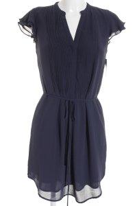 H&M Blusenkleid dunkelblau Business-Look