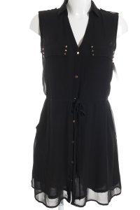 H&M Blusenkleid schwarz Casual-Look