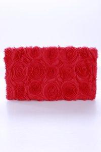 H&M Clutch Blumenmuster rot