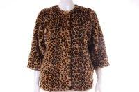 H&M Fake-Fur-Jacke mit Leo-Print