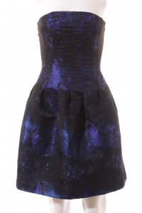 H&M Kleid Galaxymuster Metallic-Optik