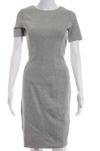 H&M Kurzarmkleid hellgrau Street-Fashion-Look