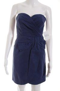 H&M Minikleid blau Wickel-Look