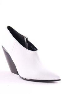 H&M Stiefeletten weiß-schwarz klassischer Stil