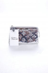 "Louis Vuitton Clutch ""Monogram Miroir"" silberfarben"