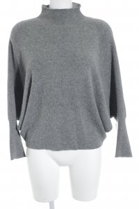 Mango Suit Cashmerepullover grau Kuschel-Optik