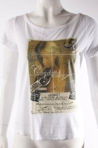 Mango T-Shirt weiß Print